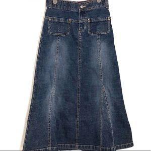 Gap Midi Jean Skirt